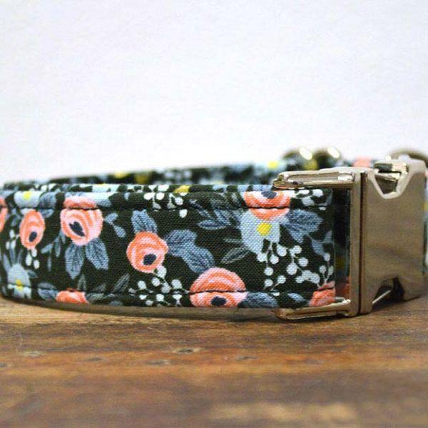 Collar perro Flores