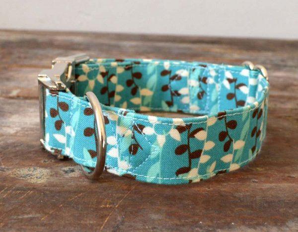 Collar perro Hojas
