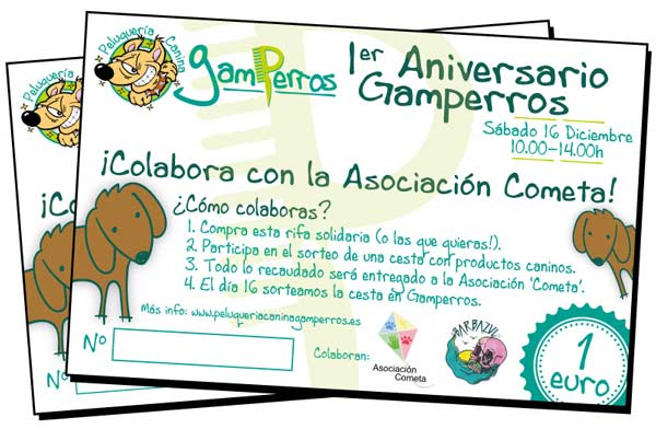 Rifas aniversario Gamperros